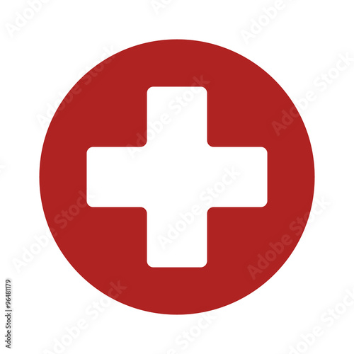 Fotografie, Tablou First aid medical sign flat icon for app and website