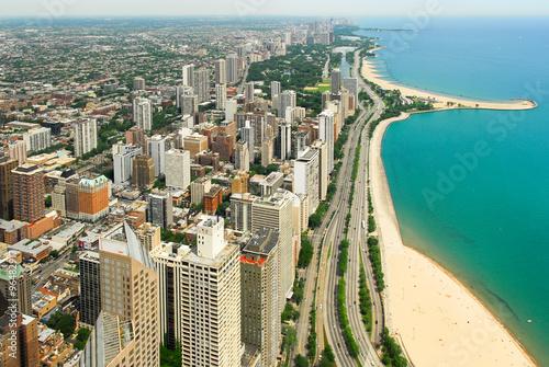 Valokuva  Chicago Skyline and Gold Coast View