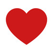 Playing card heart suit flat icon for apps and websites