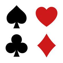 Playing Card Spade, Heart, Clu...