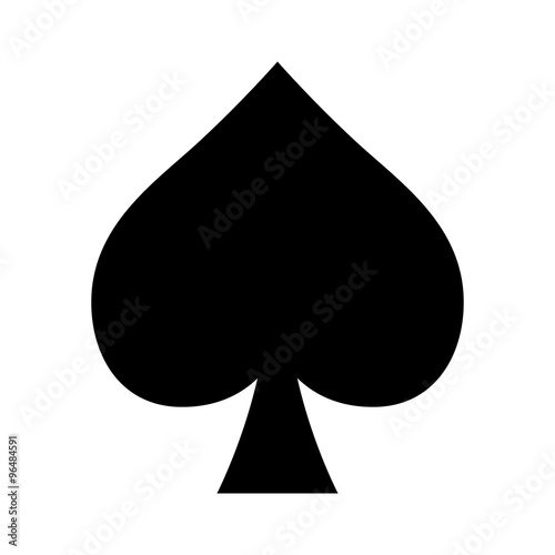 Cuadros en Lienzo  Playing card spade suit flat icon for apps and websites