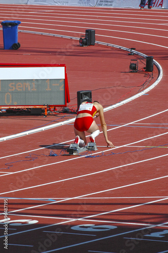 Photo  Atleta lista para correr
