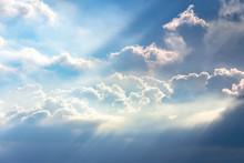Sun Breaks Through The Clouds.