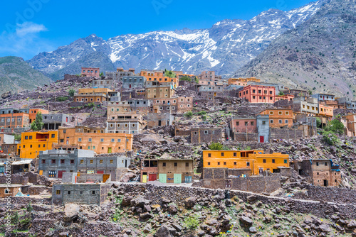 Canvas Prints Morocco Town of Aroumd, Toubkal national park, Morocco