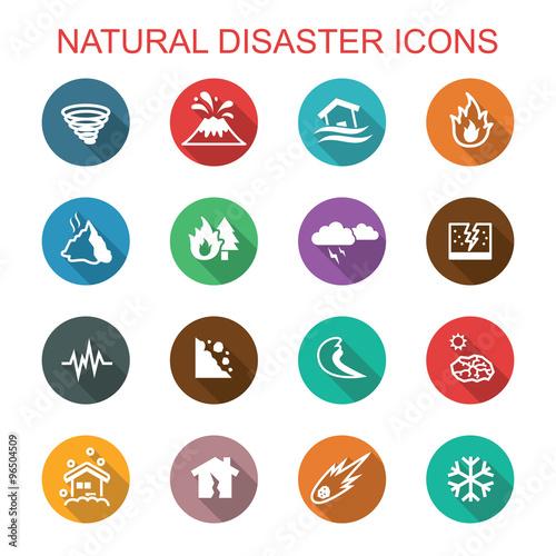 Leinwand Poster Lange Schattenikonen der Naturkatastrophe