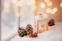 Gemütliche Weihnachtsdekoration
