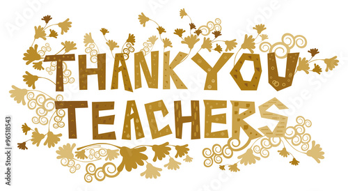 Fotografia  Thank You Teachers