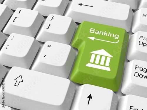 Fotografía  Banking on keyboard button