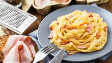 Pasta Carbonara On A Plate