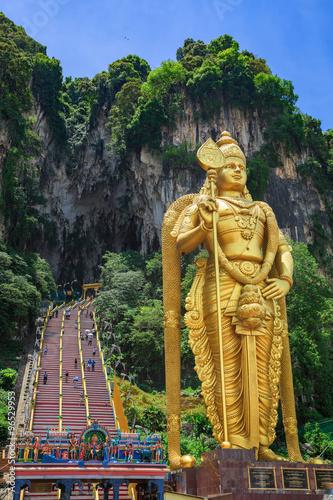Statue of hindu god Muragan at Batu caves, Kuala-Lumpur. Canvas Print