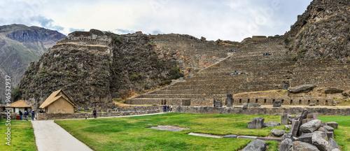 Fotografia Ruins of Ollantaytambo in the Sacred Valley, Peru