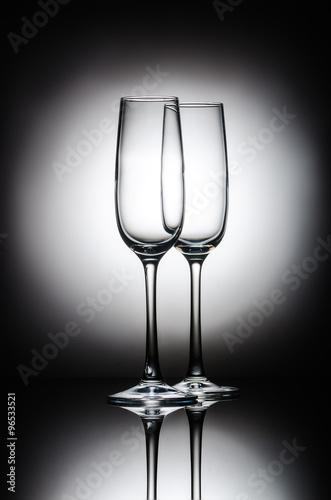 Leinwand Poster  champagne glasses