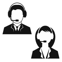 Man And Woman From Technical Support