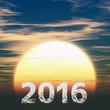 2016年号と日の出