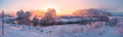 Poster Campagne Winter sunrise