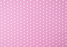 White Polkadot With Pink Background
