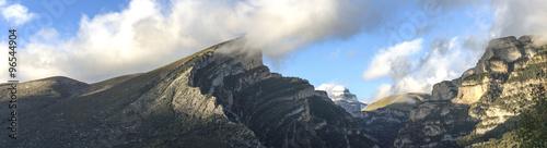 Fotografie, Obraz  Panorama de montagnes