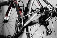 Details Bicycle Chain Wheel Frame