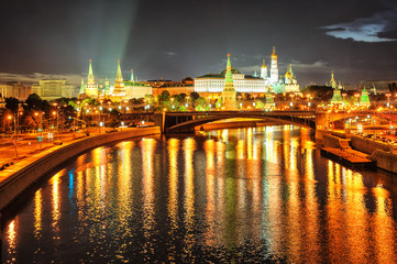 Obraz na SzkleMoscow Kremlin at night, Russia