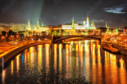 Moscow Kremlin at night, Russia - 96550191