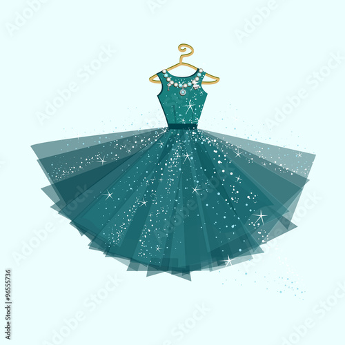 Party dress. Vector illustration Poster