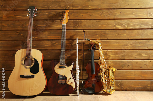 musical-instruments-on-wooden-background