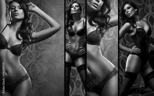 czarno-bialy-kolaz-seksowna-kobieta-pozuje-w-pieknej-bieliznie-nad-ciemnym-tlem