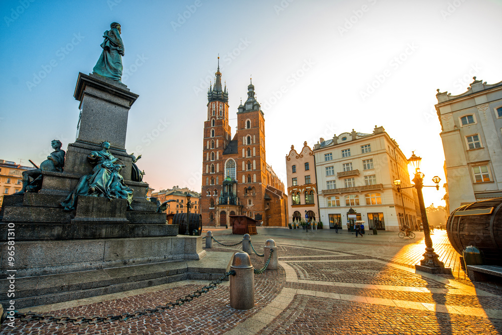 Fototapety, obrazy: Old city center view in Krakow