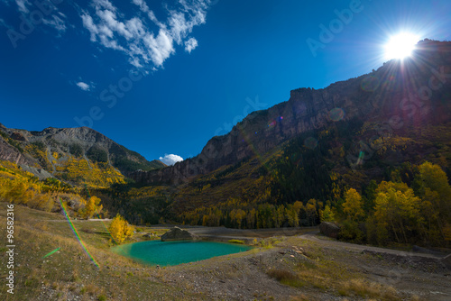 Photo  Turquoise Pools near Pandora Mine
