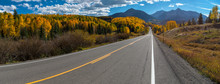 Fall Color, Colorado Highway 145 Panorama