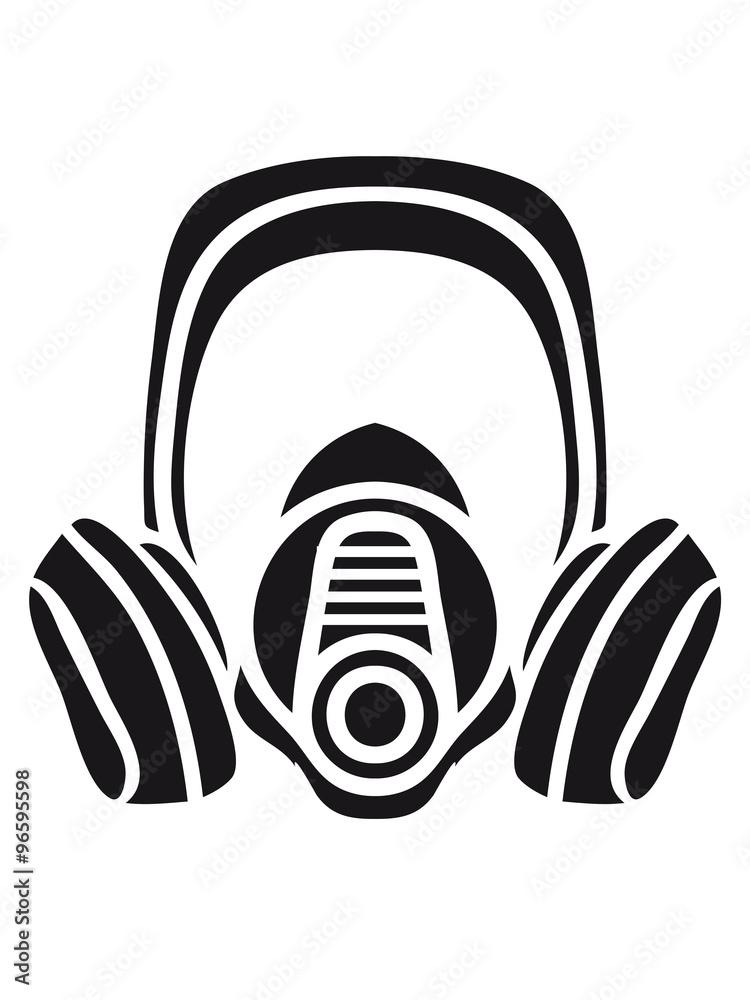 Photo  biohazard logo sign symbol toxic virus biological chemical gas mask cool design