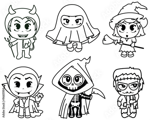Photo  Halloween characters