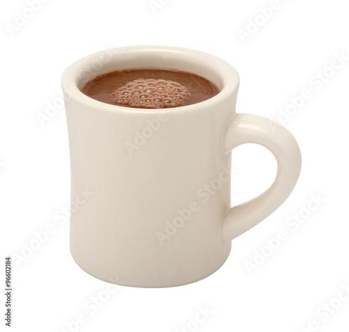 Foto op Plexiglas Chocolade Hot Chocolate Mug isolated