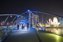 MARINA BAY SANDS, SINGAPORE OCTOBER 12, 2015: The Helix Bridge I