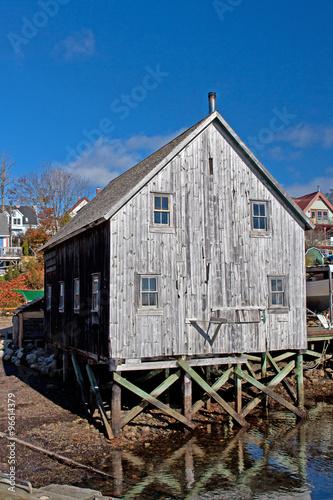 Foto op Aluminium Arctica altes Lagerhaus