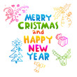 Christmas lettering template