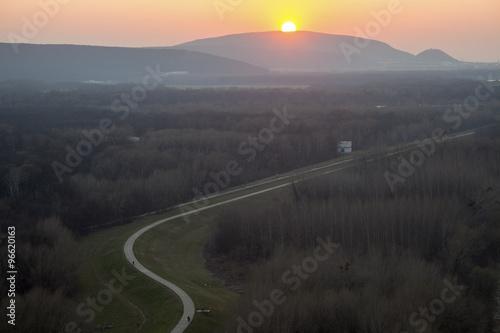 Sunset in Bratislava Poster