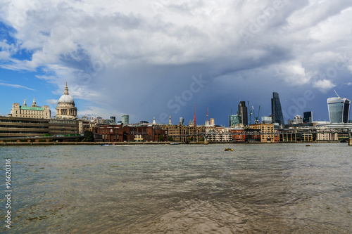 Fotografie, Obraz  View of London skyline on Thames River. London, UK