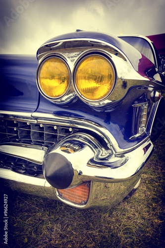 classic american car in vintage style