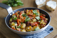 Eggs With Chorizo And Peppers