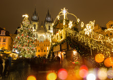 The Old Town Square In Prague ...