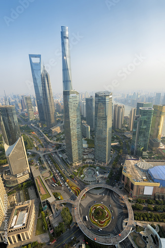 View of  Lujiazui district in Shanghai, China Poster