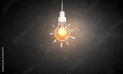 Photo  Bright electric bulb