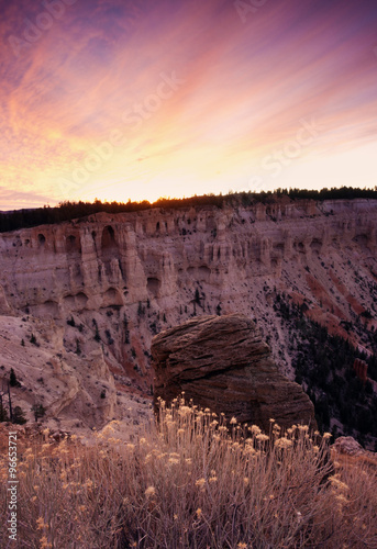 Poster Parc Naturel Sunrise Panorama in Bryce National Park