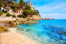 Lloret De Mar Castell Plaja At Sa Caleta Beach