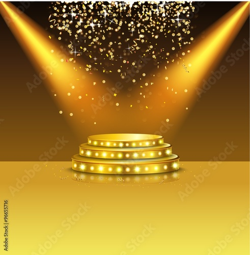Foto op Canvas Licht, schaduw Spotlight of shining on stage background