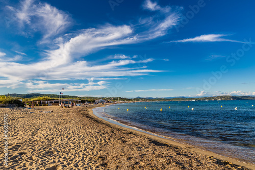 Empty Pampelonne Beach Saint Tropez France Buy This Stock Photo