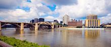 Panoramic Grand Rapids, Michigan, USA.