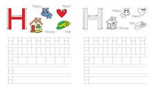Tracing Worksheet For Letter H