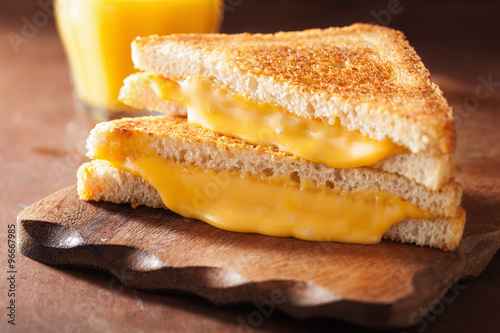Foto op Canvas Snack grilled cheese sandwich for breakfast